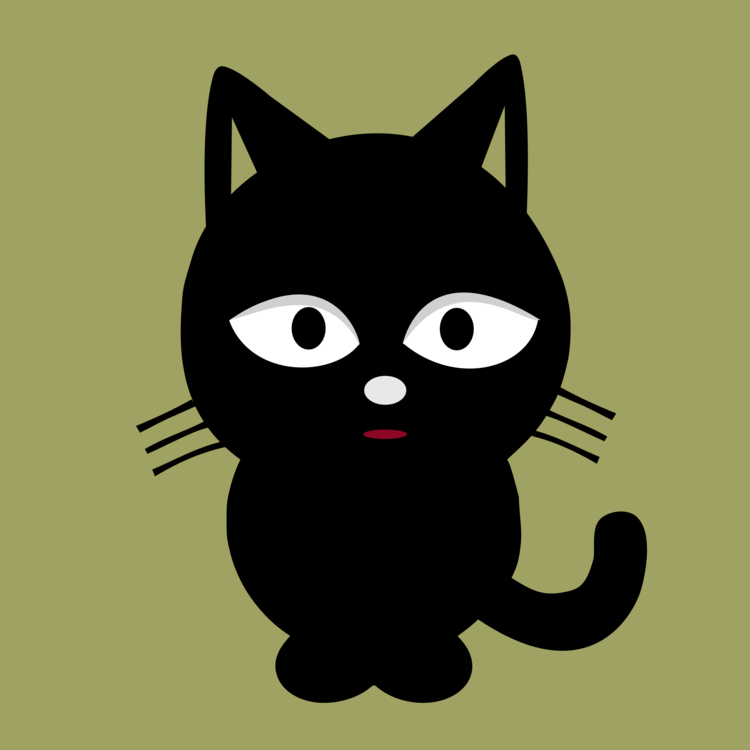 Kitty clipart black panther. Cat kitten silhouette free
