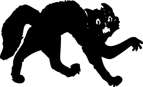 Kitty clipart black panther. Cat clip art free