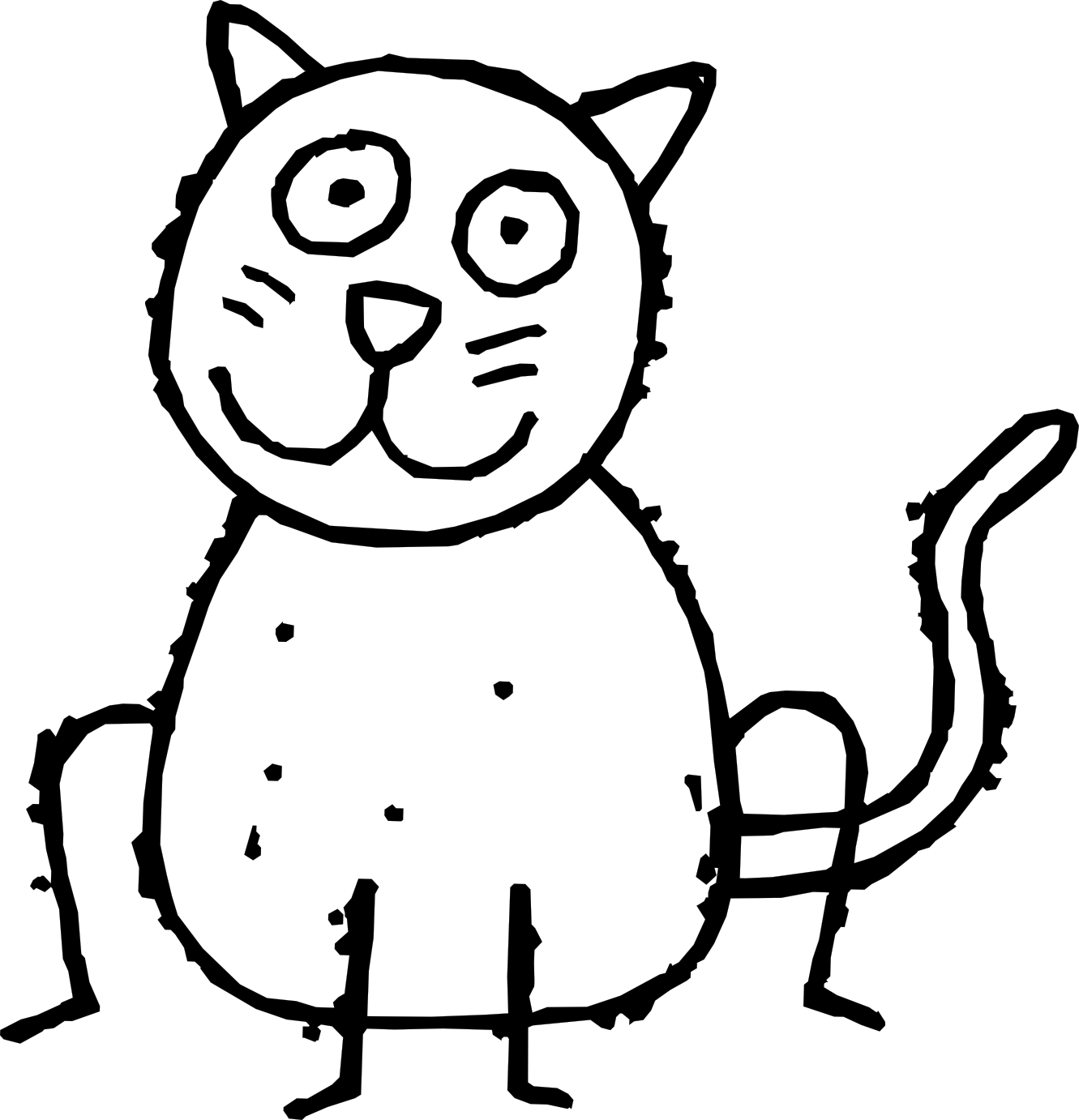 Kitty clipart computer. Free cartoon black and