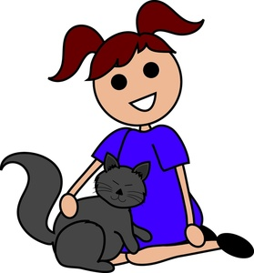 Kitty clipart computer. Free image brown haired