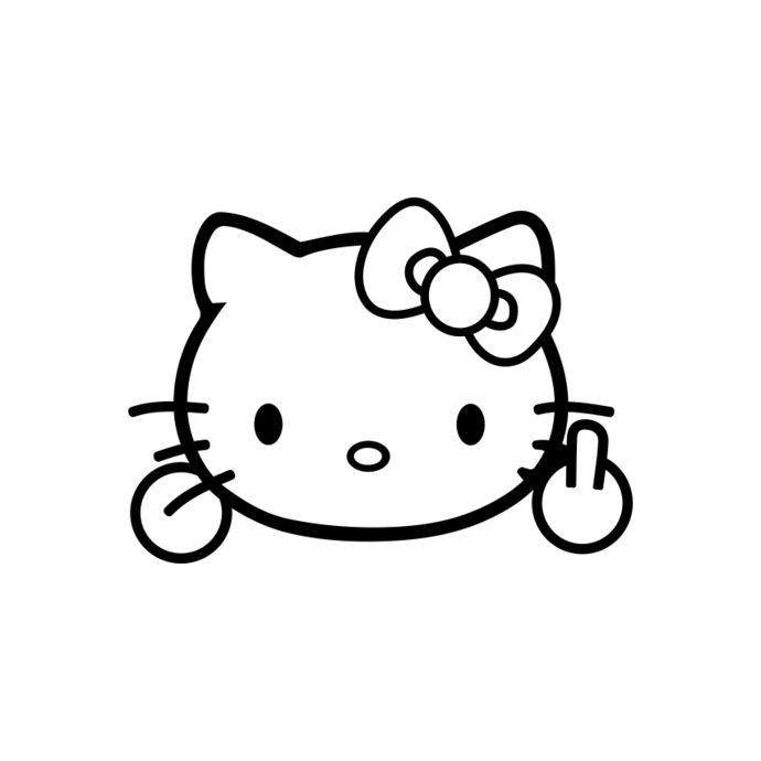 Kitty clipart middle. Hello finger funny graphics