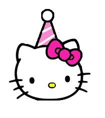 Kitty clipart middle. Free hello clip art