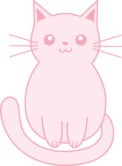Kitty clipart middle. Cute pink kitten clip
