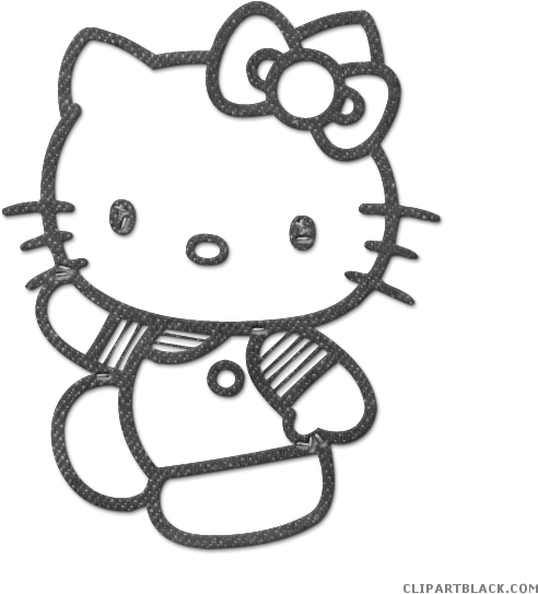 Kitty clipart printable. Black and white animals