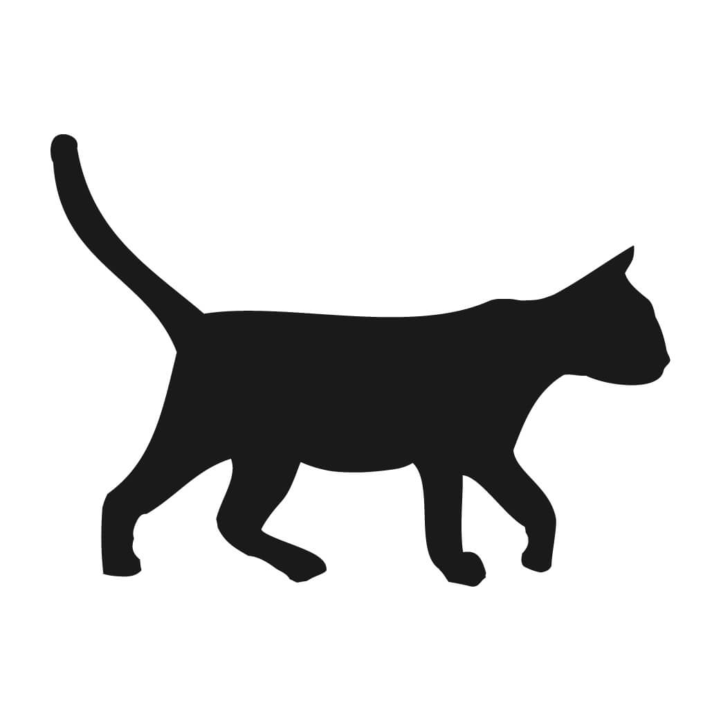 Kitty clipart walking. Silhouette cat tattoos at