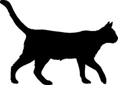 Kitty clipart walking. Silhouette of cat downloadclipart