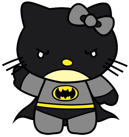 Kitty transparent. Hello batman cute png