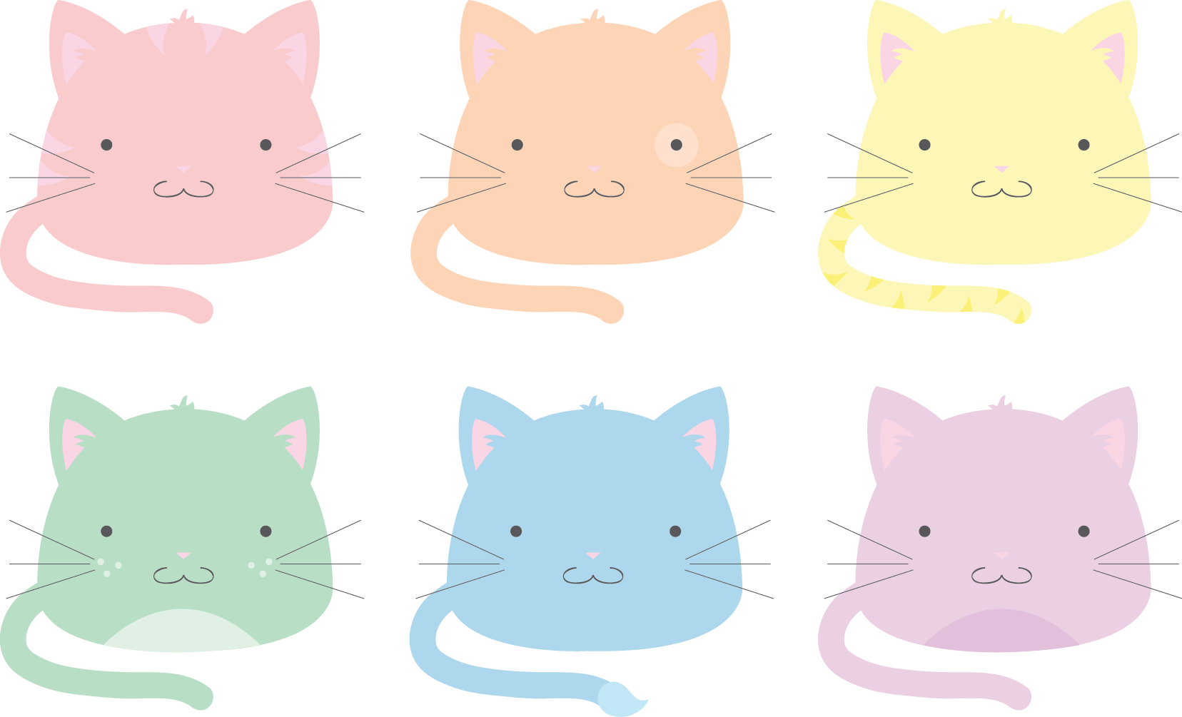 Kitty transparent blob. Pastel cats by technicolorblackout