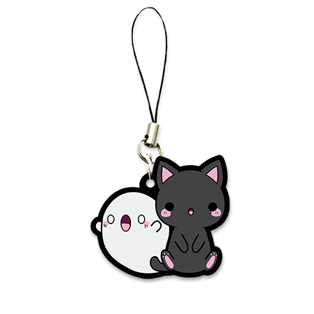 Kitty transparent charm. And ghost kawaii things