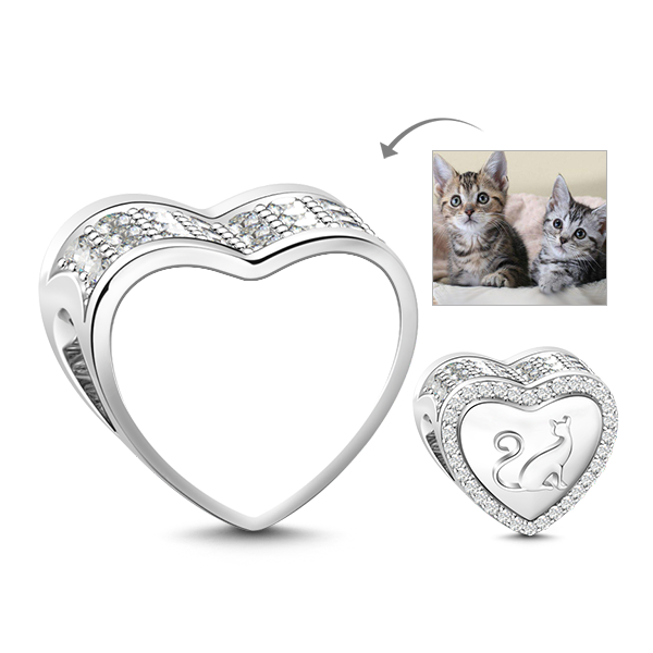 Kitty transparent charm. Cat in my life