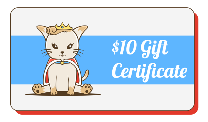 Kitty transparent charm. Gift cafe certificate
