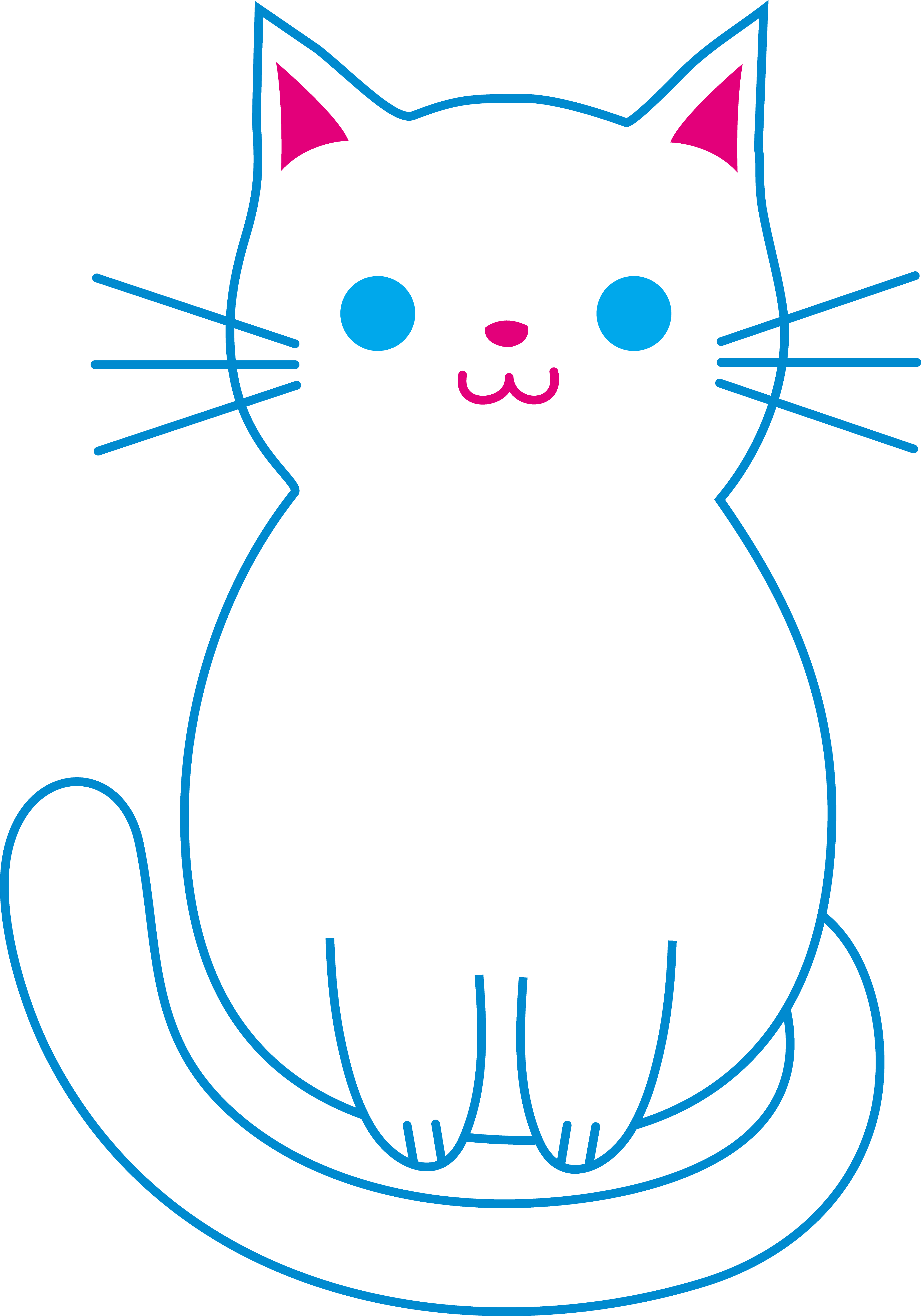 Kitty transparent clipart. Clip kawaii huge