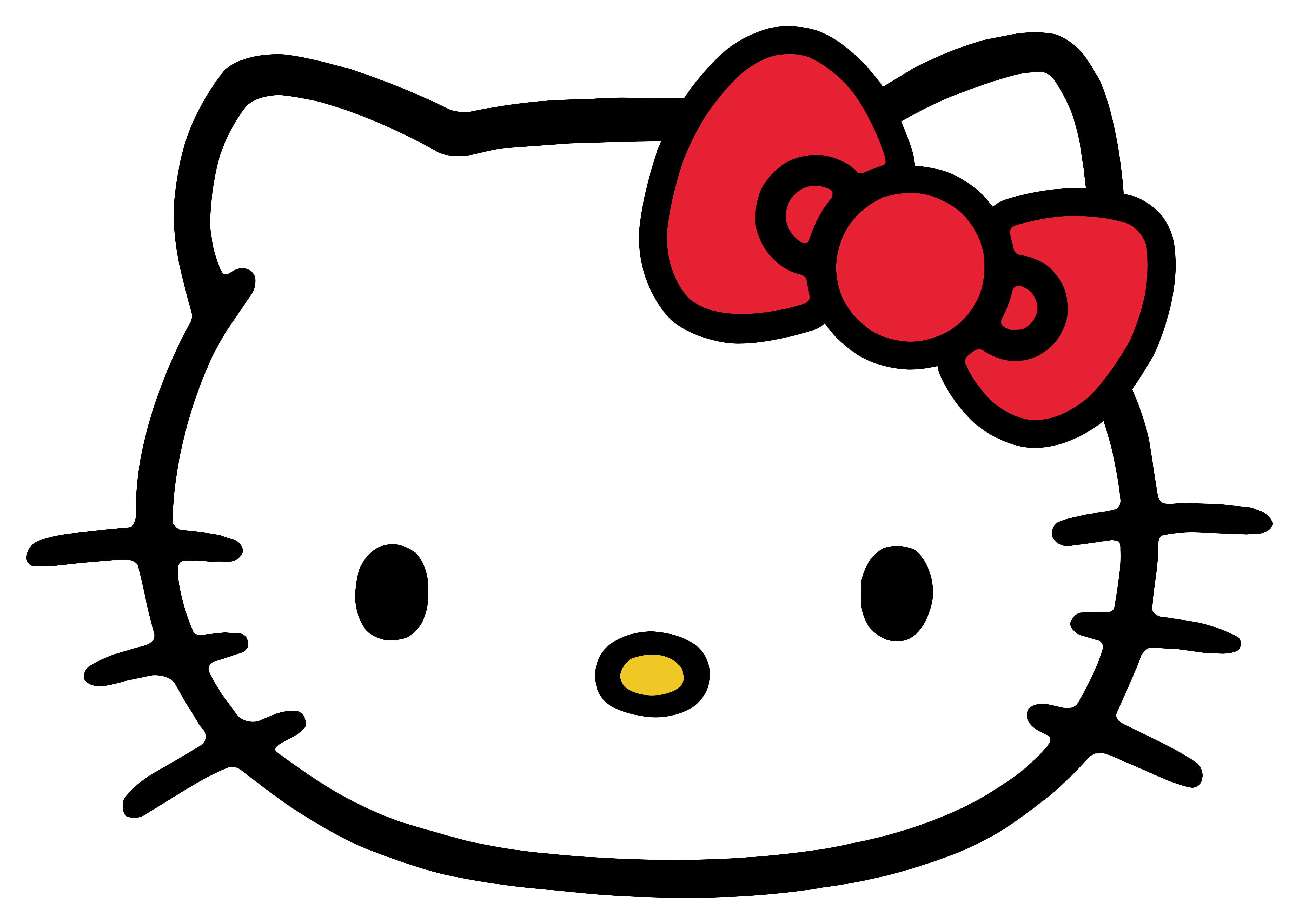 Kitty transparent logo. Hello logos download muzzle