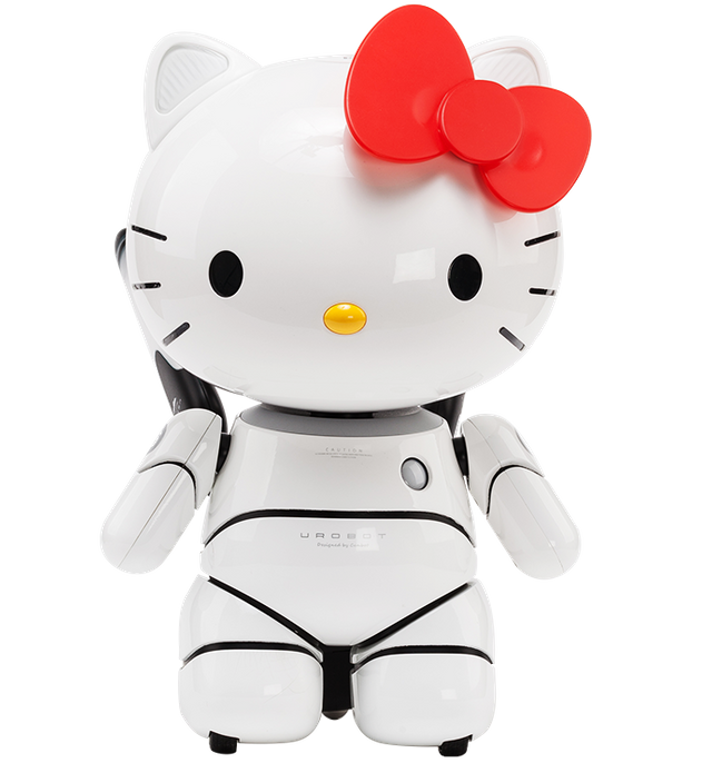 Kitty transparent robot. Hello educational steemit frontpng