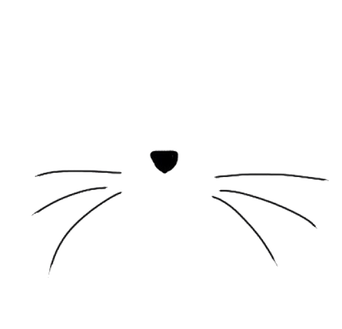 Kitty transparent whisker. Free kitten ears cliparts