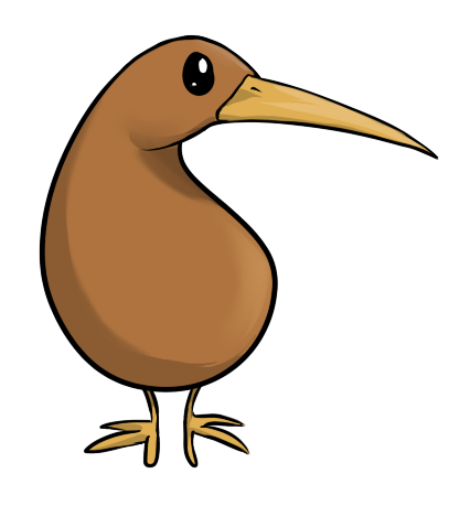 Kiwi clipart animated. Bird google search cartoons