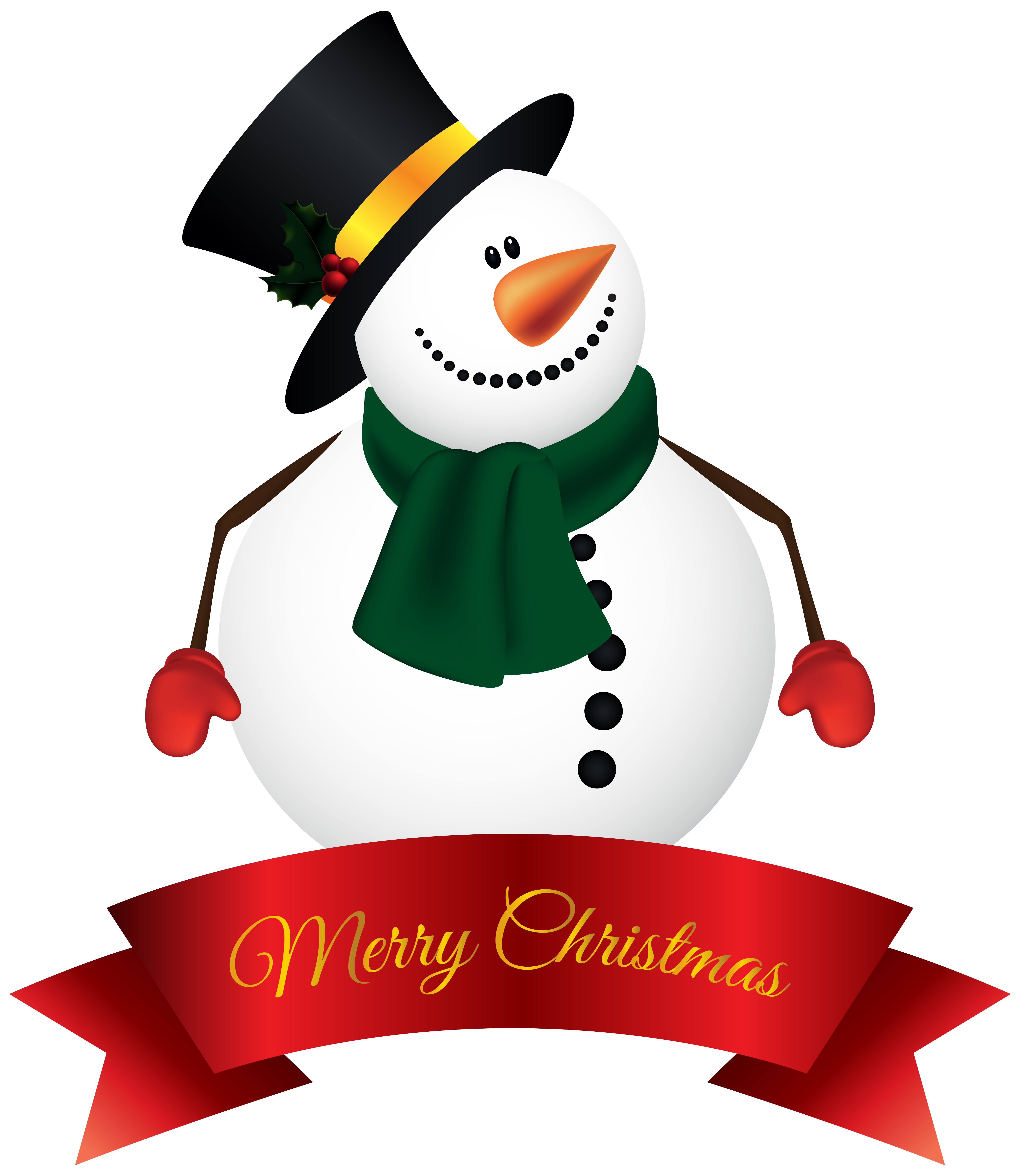 Merry christmas clipart snowman. And happy new year