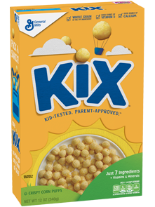 Kix cereal png. Products a box of