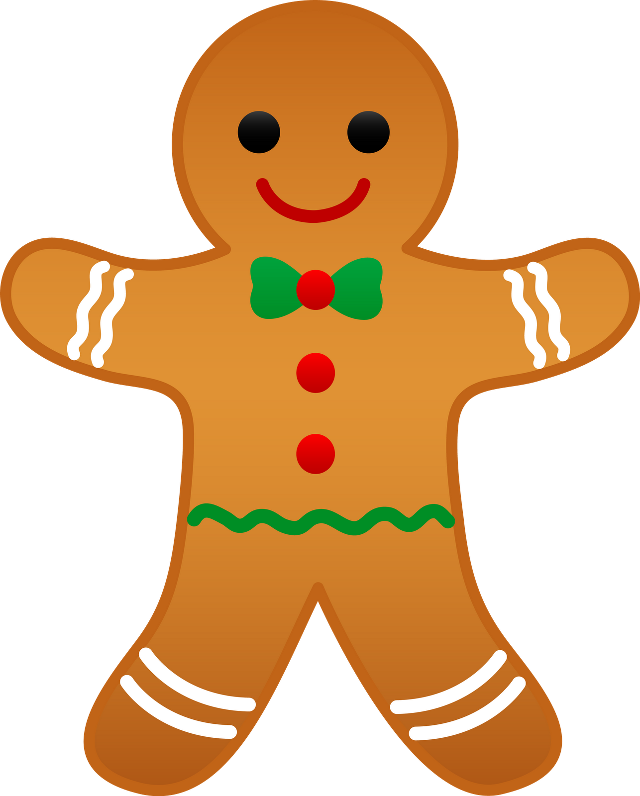 Gingerbread svg classic. Pat knees clipart clipartster