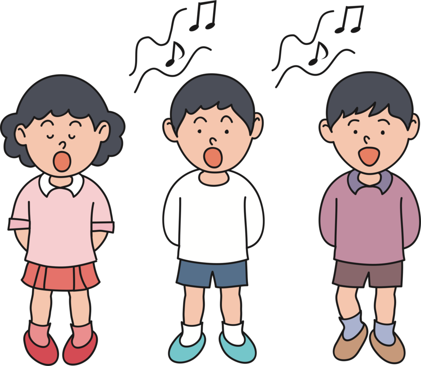 Male clipart male choir. Singing child head shoulders