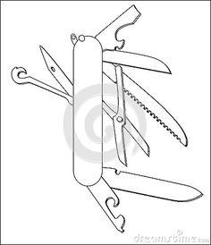 Knife clipart coloring page. Royalty free rf swiss