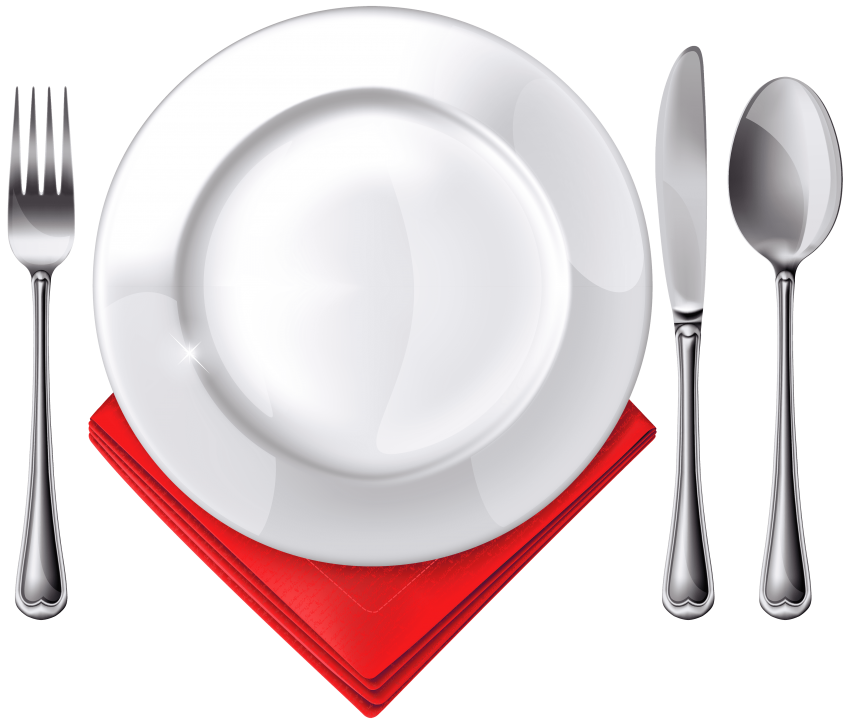 Napkin clipart plate napkin. Spoon knife fork and