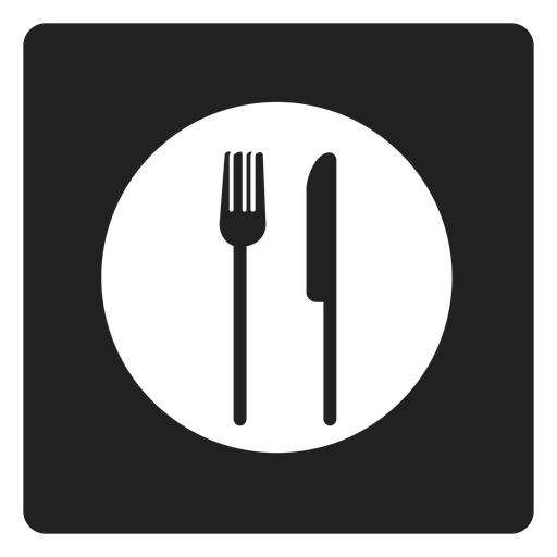 Cutlery vector eating. Utensils square icon transparent