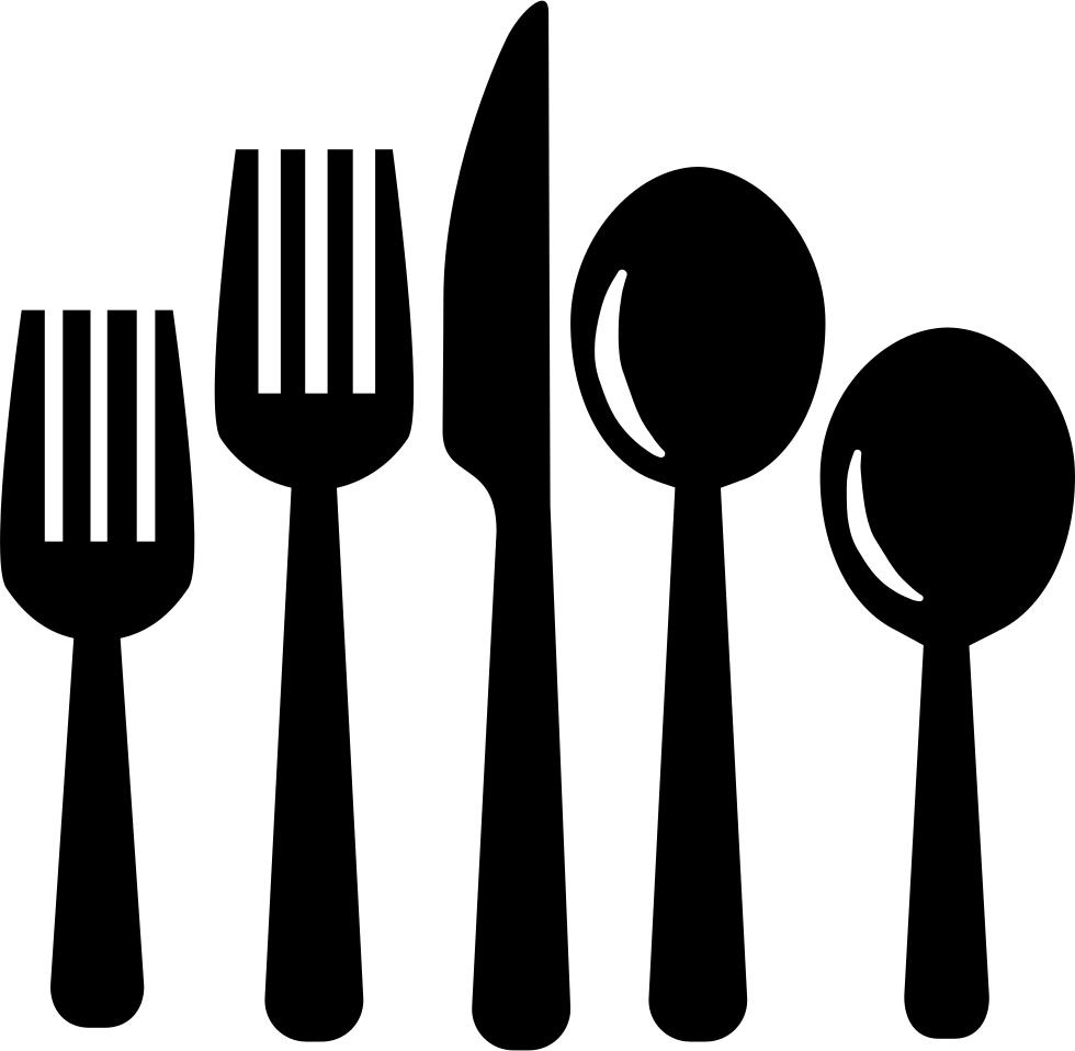Knife svg eating. Cutlery set of tools