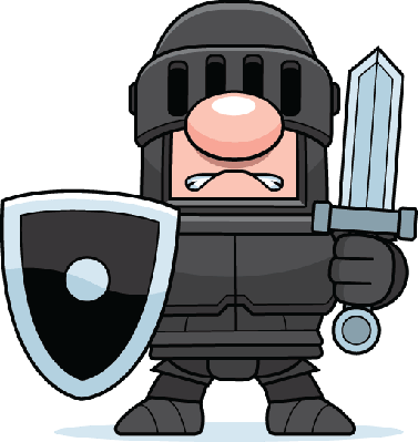 Knight cartoon png. Medieval with sword clipart