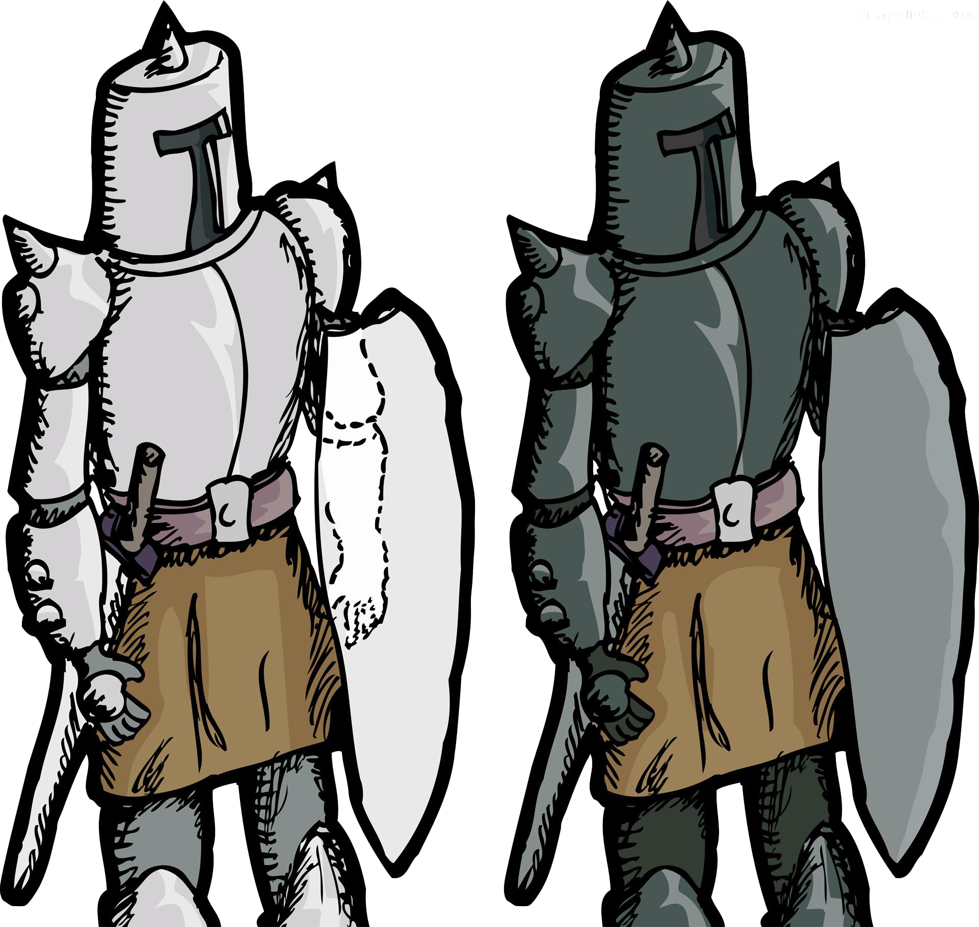 Knight cartoon png. Middle ages soldier royalty