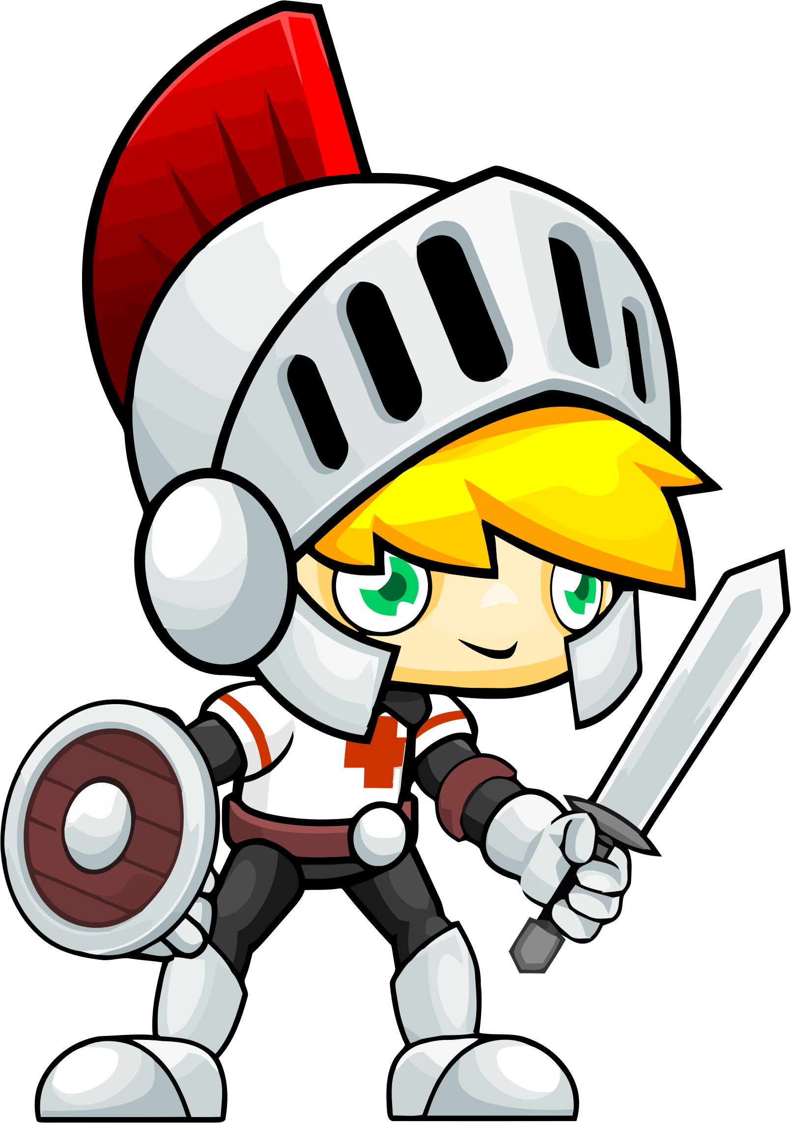 Knight cartoon png. Clipart golden haired kid
