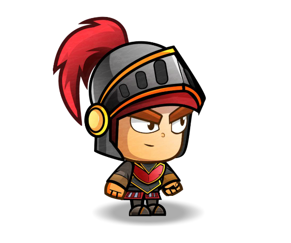Knight cartoon png. Red game art character