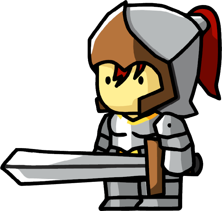 Knight .png. Image female png scribblenauts