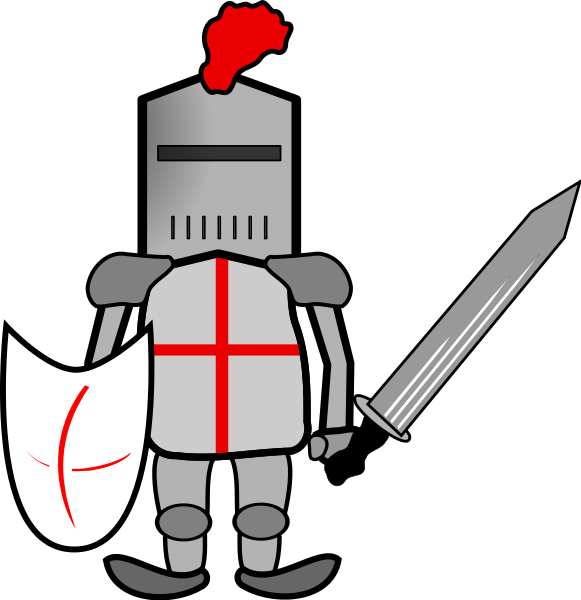 Knight clipart. In armor
