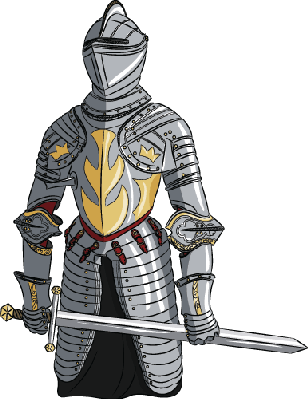 Medieval clipart transparent. Knight with sword the