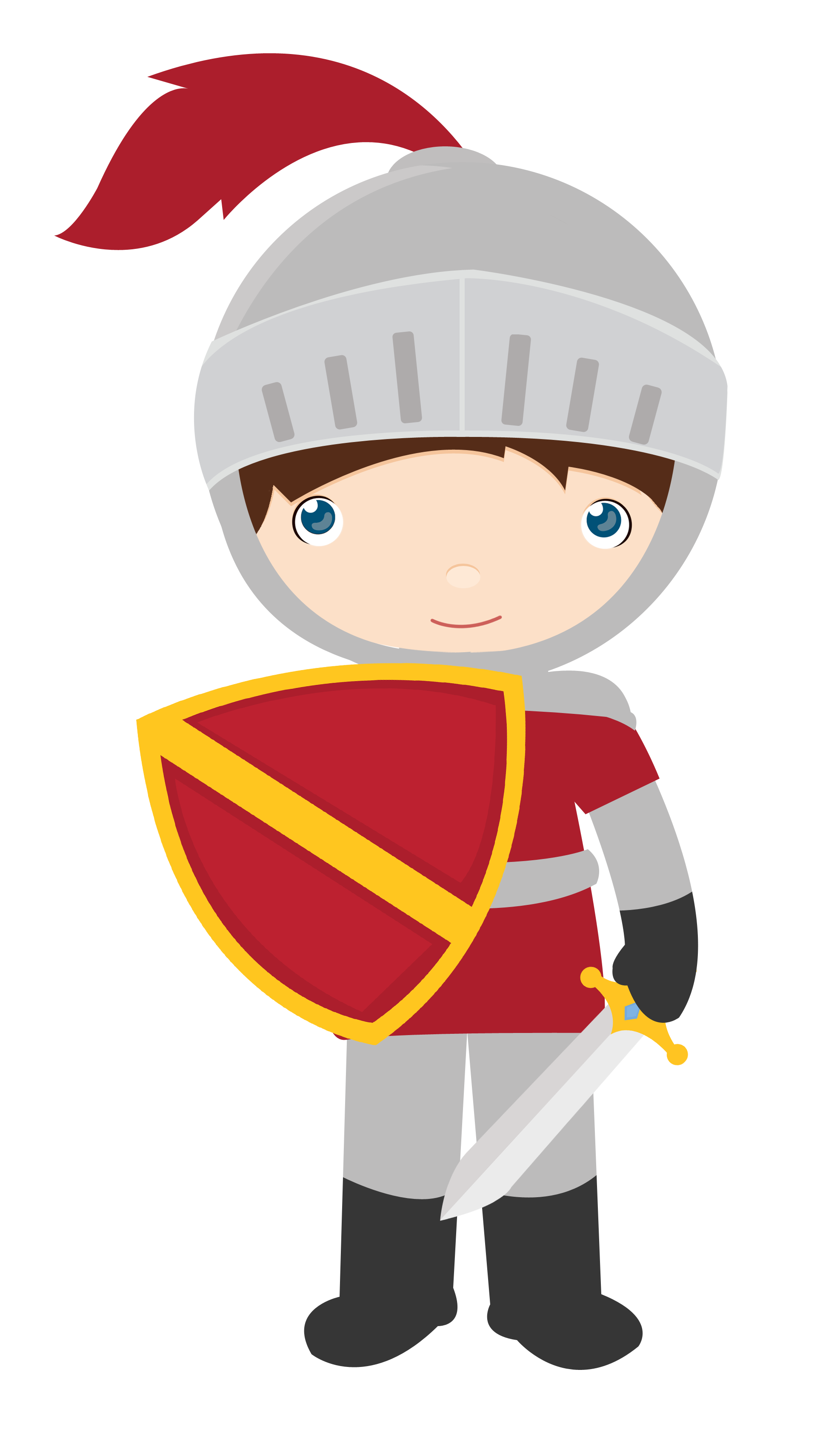 drawing knight kid