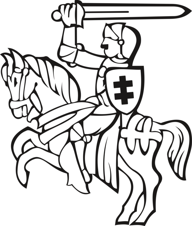 Armour drawing animal. Knight coloring book equestrian