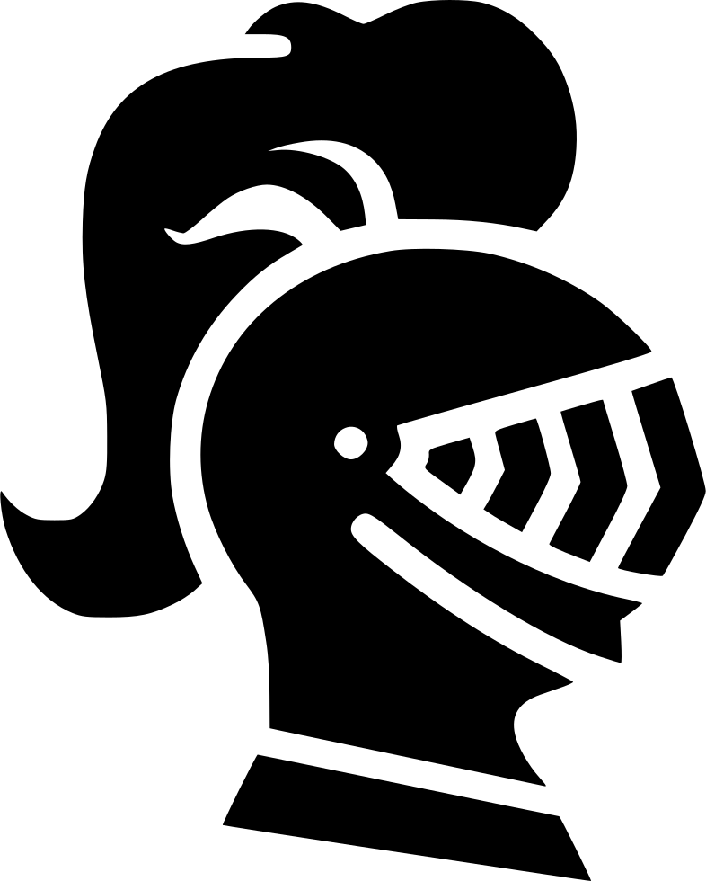 Transparent knight head. Helmet svg png icon