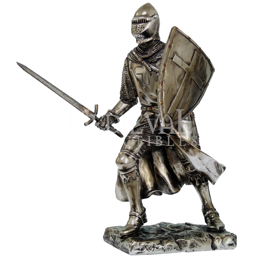 Knight in armor png. Valiant crusader statue cc