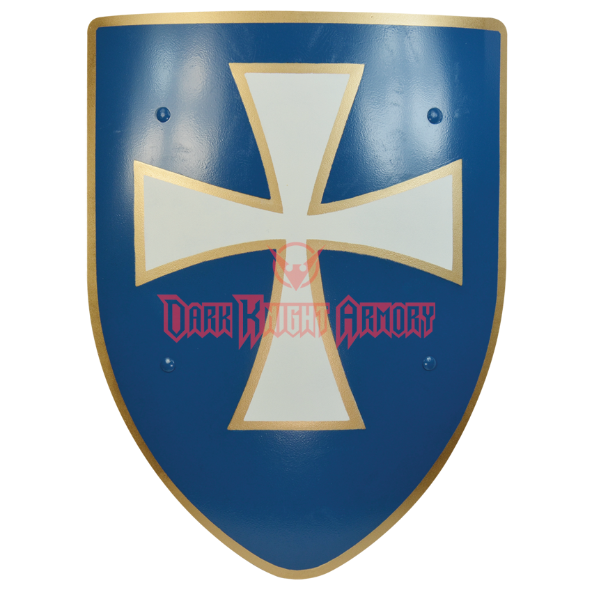 Knight shield png. White cross steel battle