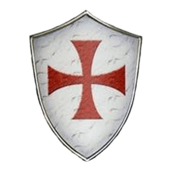 Knight shield png. Miniature knights templar by