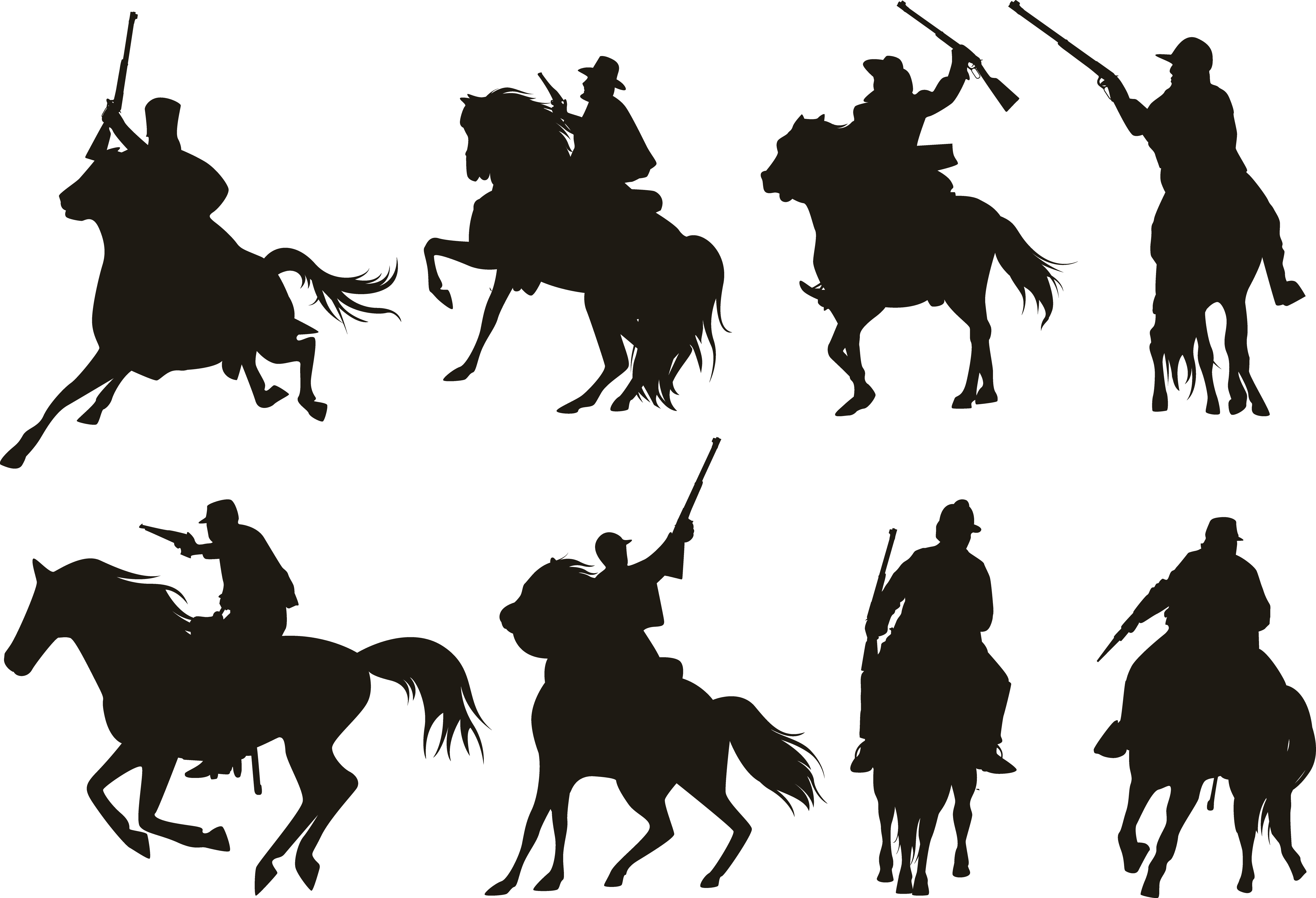 Knight silhouette png. Horse cavalry black transprent