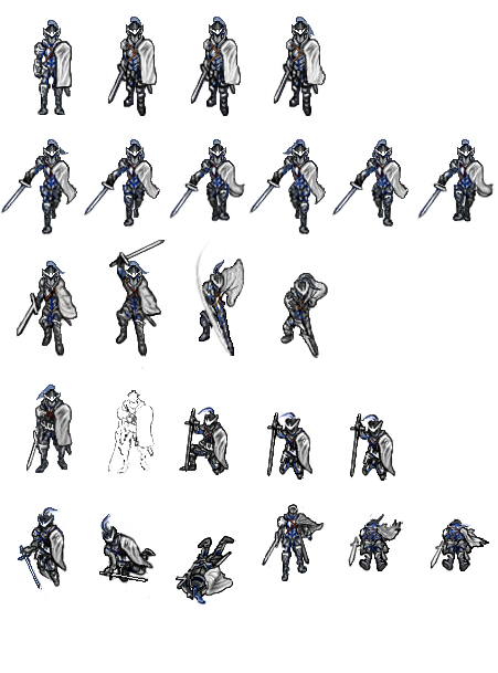 Knight sprite png. White cross animations work