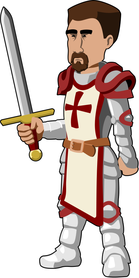 Vector knight royalty free. Original clipart download knights