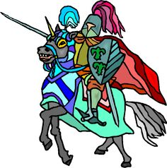 Medieval clipart maid. Knight cartoon ages knights