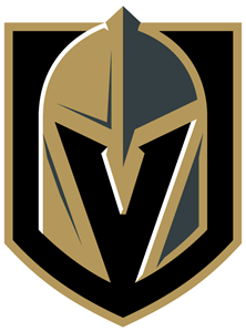 Golden knights logo eps. Vegas vector symbol banner black and white