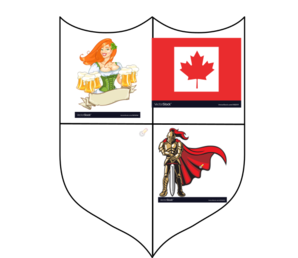 Vector knight royalty free. And girl crest canada