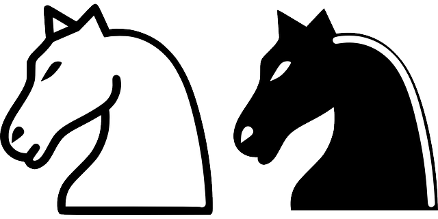 Knights vector horse. Silhouette of a knight