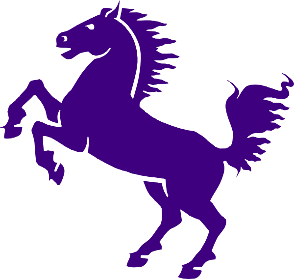 Knights vector horse silhouette. Purple mustang clip art