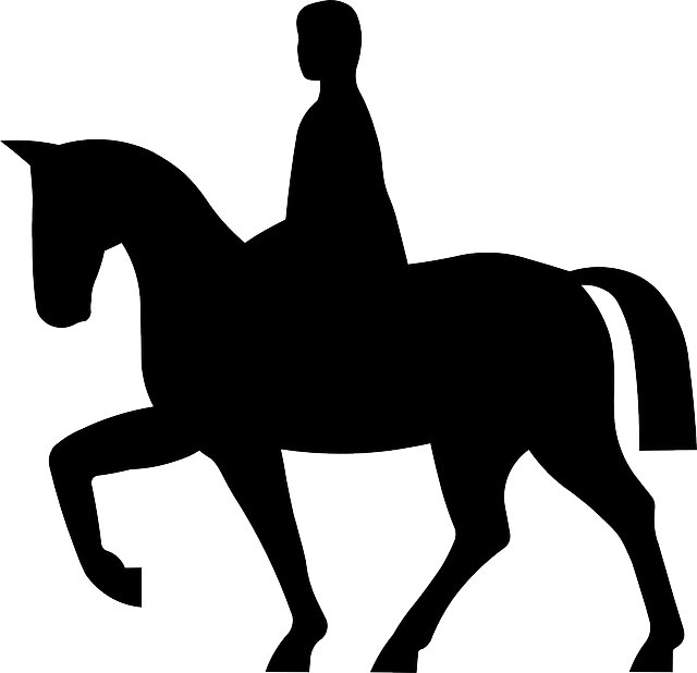 Knight svg horseback silhouette. Horse and rider at